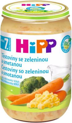 HIPP BIO Cestoviny so zeleninou a smotanou (220 g) - zeleninový príkrm