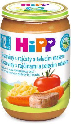 HIPP BIO Rajčiny s cestovinami a teľacím mäsom 220g