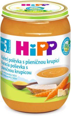 HIPP BIO slepičí polévka s pšeničnou krupicí (190 g)