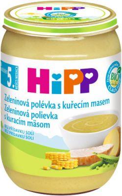 HIPP BIO Zeleninová polievka s kuracím mäsom 190g