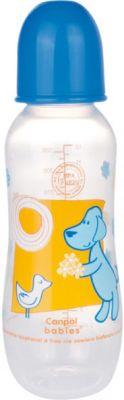 CANPOL Babies Fľaša s potlačou MAXI 330 ml 0% BPA- modrá