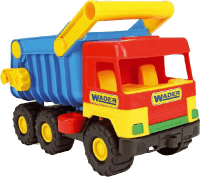 WADER Auto middle Truck sklápač - plast