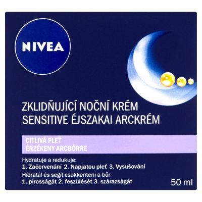 NIVEA kojący krem na noc do skóry wrażliwej 50 ml