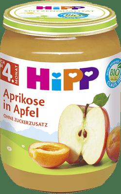 HIPP BIO Jablká s marhuľami, 190 g