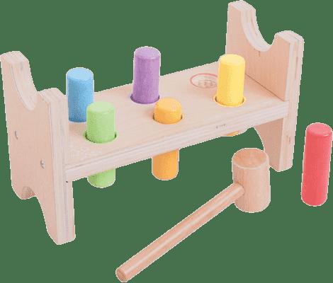 BIGJIGS Dřevěné hračky - zatloukačka