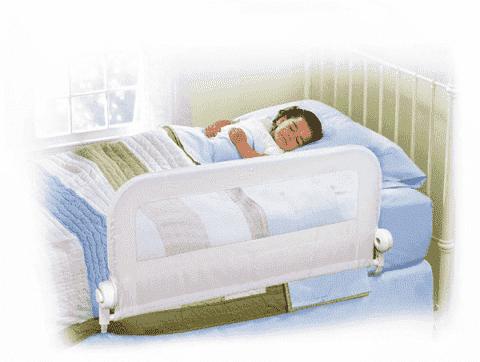 SUMMER INFANT zábrana na posteľ (jednostranná) - biela