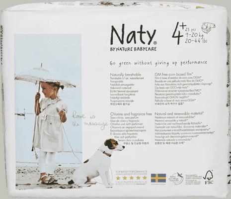 NATY NATURE BABYCARE Ekologiczne pieluszki 4+ (9-20Kg) 25 Szt