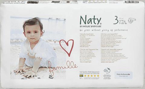 NATY NATURE BABYCARE 3 MIDI (4-9 kg) 52 szt. ECONOMY PACK – pieluszki jednorazowe