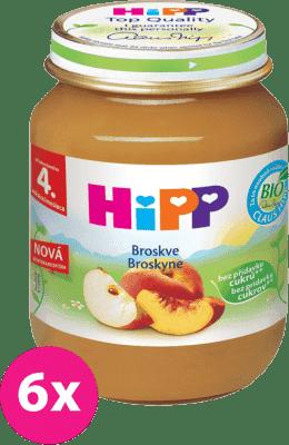 6x HIPP broskyňový (125 g) - ovocný príkrm