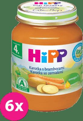 6x HIPP BIO karotka so zemiakmi (125 g) - zeleninový príkrm