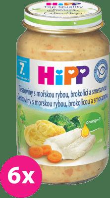 6x HIPP tagliatelle s morskou rybou, brokolicou a smotanou (220 g) - mäso-zeleninový príkrm