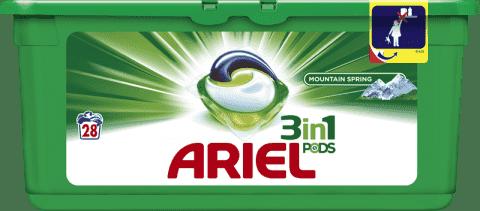ARIEL Mountain Spring (28szt.) - żelowe kapsułki do prania