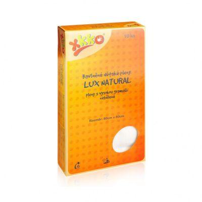 KIKKO Bawełniana pieluszka o wysokiej gramaturze Lux Eco 80x80 (10 szt.) – niebielona