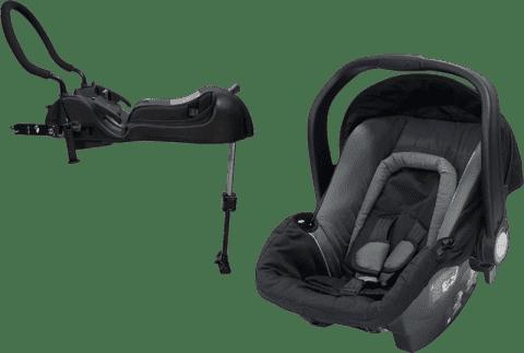 AXKID Babyfix autosedačka 0 - 13 kg Grey + Babyfix základňa (ISOFIX / Pás) Black