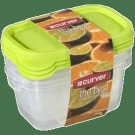 CURVER Dózy na jídlo Food Set Mix 3 x 0.5l, zelená