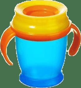 LOVI Hrnček 360˚ MINI 210ml s úchytmi - modrá