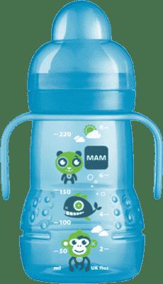 MAM Trainer - Fľaša s nevylievajúcim náustkom 220ml modrá - náhodný motív