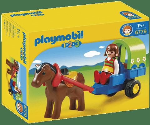 PLAYMOBIL Kočík s poníkmi (1.2.3)