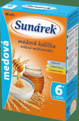 SUNÁREK Medová kašička (225 g) - mliečna kaša