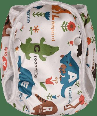 T-TOMI Plenkové plavky, bílá safari, velikost S
