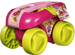MEGA BLOKS Vozík s kostkami, růžová barva