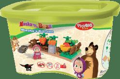 BIG Bloxx Máša a medveď - mašiny záhradka