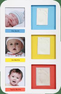 ADORA Sada pre odtlačok - nástenný rámček - Prvý rok dieťaťa