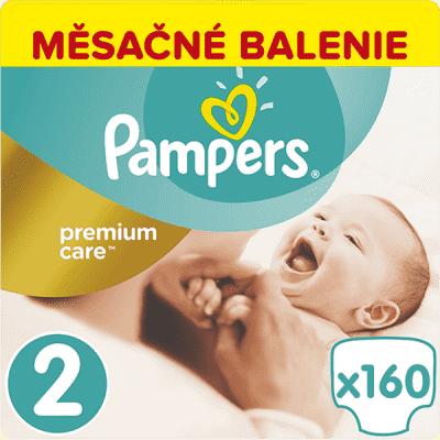 PAMPERS Premium Care 2 MINI 160ks (3-6kg) MESAČNÁ ZÁSOBA - jednorazové plienky
