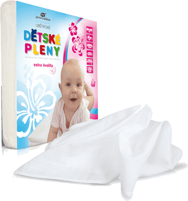Libštátské pleny Detská bavlnená plienka Extra kvality, 80x80 cm, biela, 10 ks