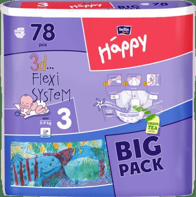 Bella HAPPY Midi (5-9 kg) Big Pack 78 szt. - pieluszki jednorazowe