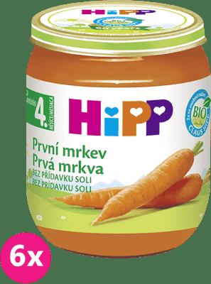 6x HIPP BIO Prvý mrkva (125 g) - zeleninový príkrm