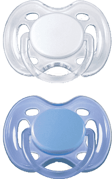 AVENT Dudlík sensitive, 2 ks (0 – 6 m) – modrý + bílý
