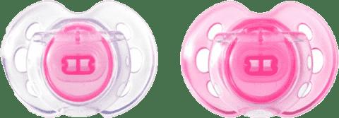 TOMMEE TIPPEE Cumlík CTN silikón Air Style 2ks 0-6m-ružové