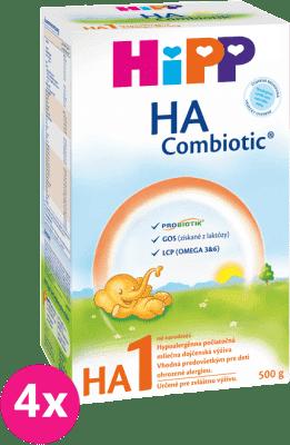 4x HIPP HA 1 Combiotic (500 g) - dojčenské mlieko