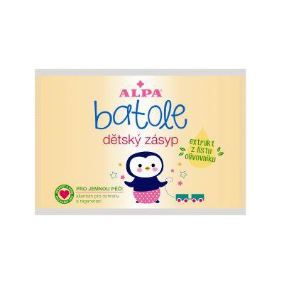 BATOLE Detský púder s extraktom olivy 100g (vrecúško) - proti zapareninám