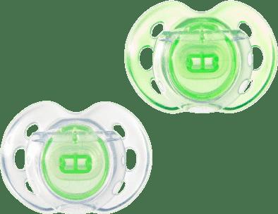 TOMMEE TIPPEE Šidítko CTN silikon Air Style 2ks 0-6m-zelené