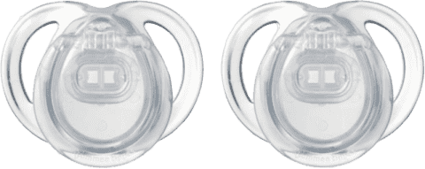 TOMMEE TIPPEE Šidítko CTN silikon Any Time 2ks 0-6m-čiré