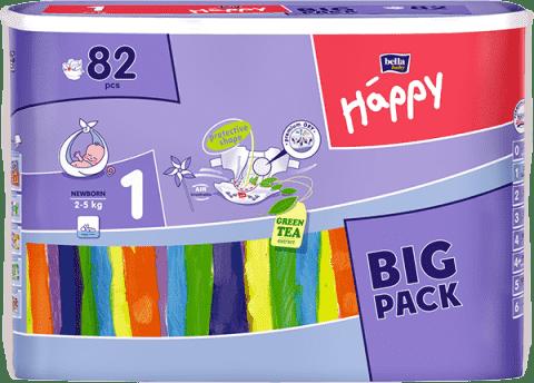 Bella HAPPY Newborn (2-5 kg) Big Pack 82 szt. - pieluszki jednorazowe
