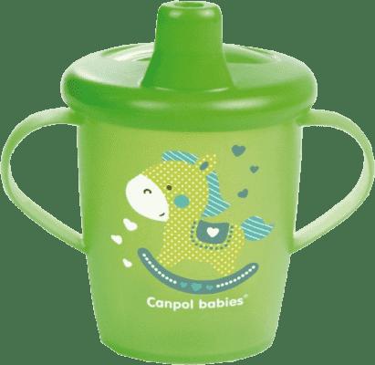 CANPOL Babies Nevylévací hrnček Anywayup - zelený 250ml