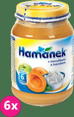 6x HAMÁNEK S meruňkami a tvarohem (190 g) - ovocný příkrm