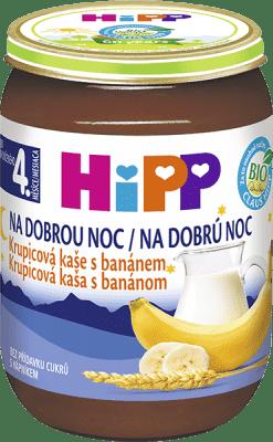 HIPP BIO Na dobrou noc krupicová s banánem (190 g) - mléčná kaše