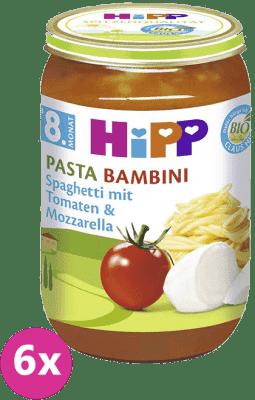 6x HIPP BIO paradajky sa špagetami a mozzarelou (220 g) - zeleninový príkrm