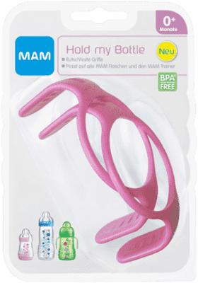 MAM Ouška na láhve 2ks růžové – náhodný motiv