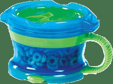MUNCHKIN Modro-zelený desiatový hrnček Click Lock