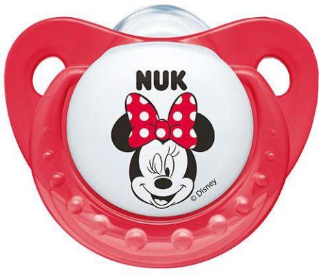 NUK Dudlík Trendline Mickey, silikon, ortodontický, velikost 1 (0-6 m) – červený