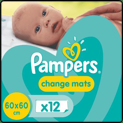 PAMPERS Changemats 12 ks - detské prebaľovacie podložky