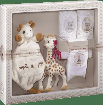 VULLI Můj první dárkový set žirafa Sophie, mazlík a set 3 plen