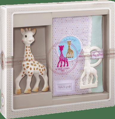 VULLI Mój pierwszy zestaw prezentowy żyrafa Sophie, pudełko i gryzaczek