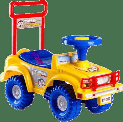 TEDDIES Odrážedlo auto Jeep Yupee žluté