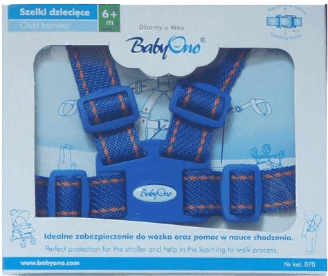 BABY ONO Popruhy na dieťa - modré, 6m+